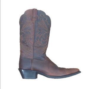 Artiat Chestnut Leather Embroidered Cowboy Boots